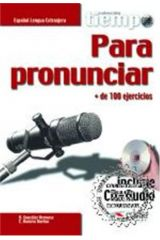 Tiempo Para Pronunciar - Libro + Cd-Audio