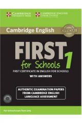 Cambridge English First For Schools 1 Study Pack (Student's Book with Answers and Audio CDs (2))
