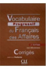 Vocabulaire Progressif des Affaires CORRIGES 2ND ED