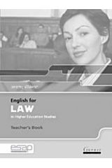 English for Law in Higher Education Studies teacher's book